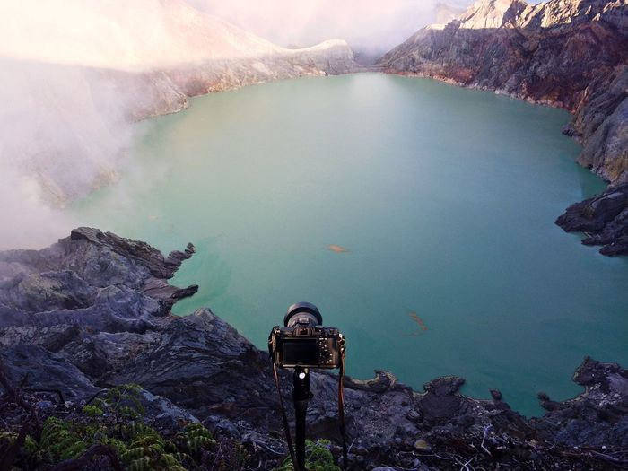 Camera Against Kawah Ijen