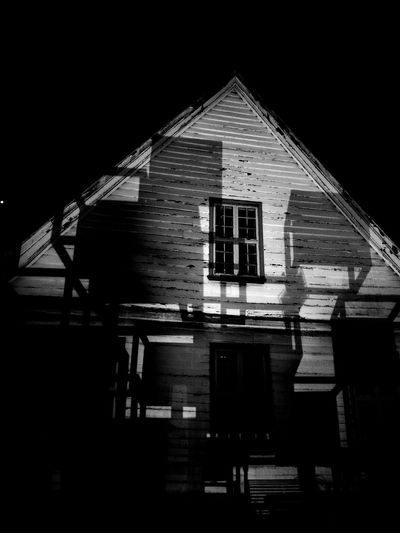 Shadows & Lights Architecture Blackandwhite Building Exterior Built Structure House Night No People Outdoors Sky Window The Week On EyeEm