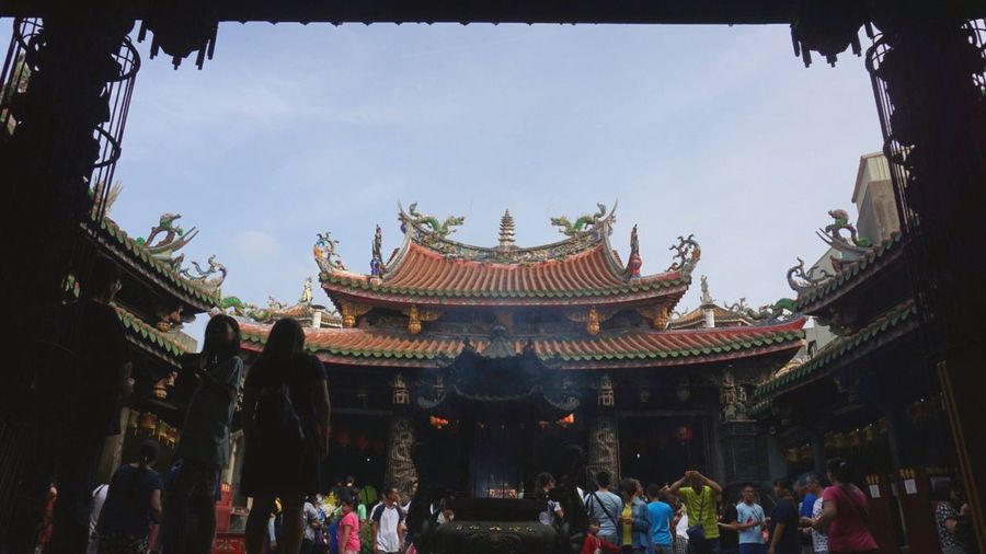 Real People Day Architecture Built Structure Outdoors People Temple Lifestyles Traditional Culture Taiwan Lukang Sony A6000