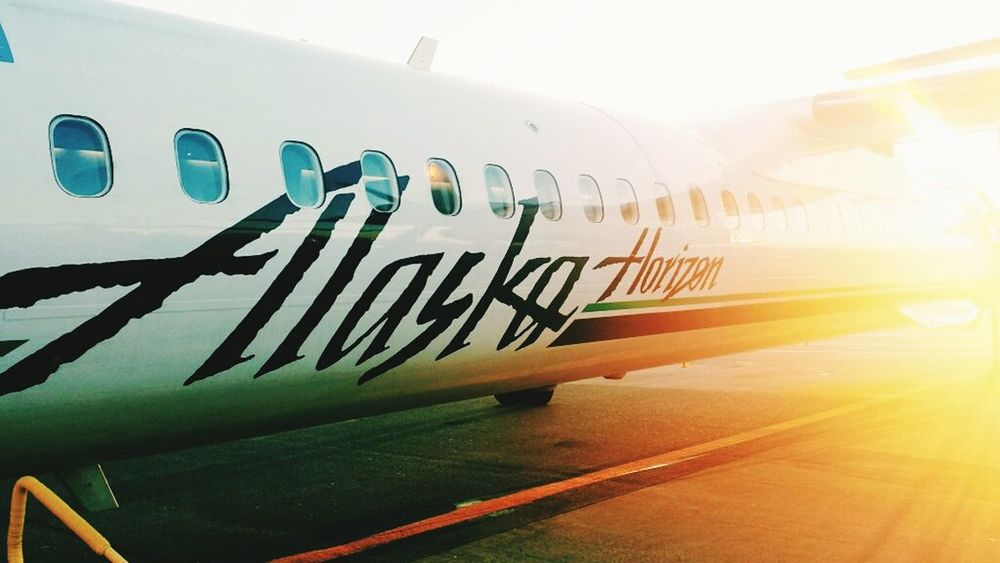 Ride to work. Alaska Air Horizon Air Seatac Airport