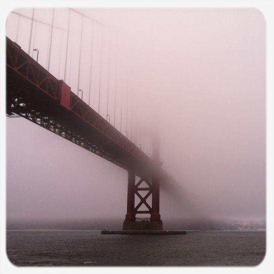 Fog Under The Bridge Golden Gate Bridge International Orange