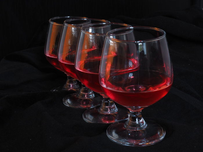 Queued glasses. Alcohol Close-up Composition Drink Drinking Glass Focus On Foreground Glass Glass - Material Indoors  Preparation  Q Quality Queue Queued Queueing Red Shiny Still Life Table Temptation Wine Wineglass