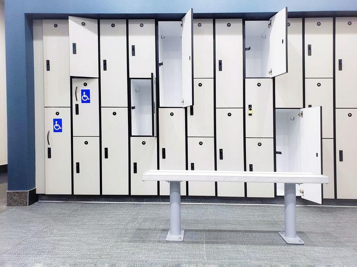 Fitness 19 gym restroom lockers