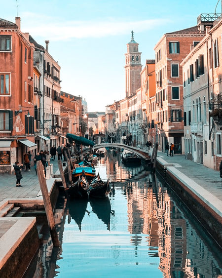 Architecture Venice, Italy Building Exterior Real People City Soft Colors  Veneto Italy Water Built Structure Travel Travel Destinations Leisure Activity Venezia Nautical Vessel Shadesofcolour