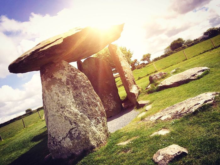 Pembrokeshire Burialchamber Nature Beauty In Nature Sky Sunny Day