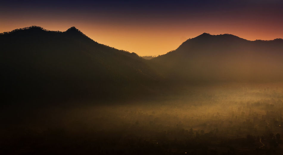 Morning mountain Loei Thailand Beauty In Nature Environment Fog Landscape Mountain Mountain Peak Orange Color Silhouette Sillouette Sunrise EyeEmNewHere