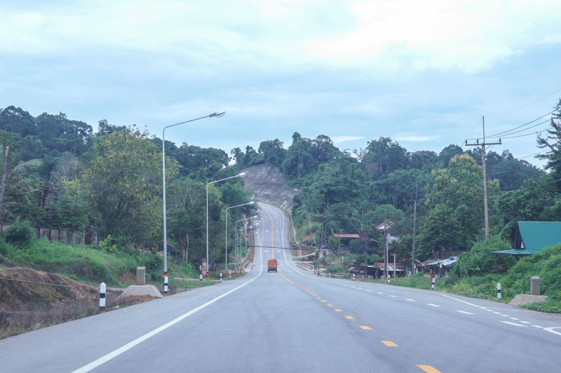 the road from