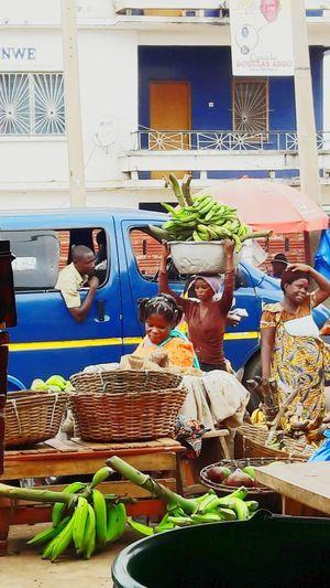 Market day somewhere in Ghana. West Africa. Ghana Market Marketday
