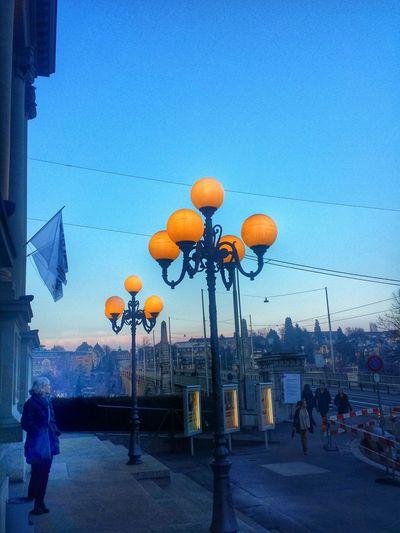 Lanterns Blue Hour Stadttheater Bern