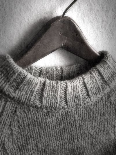 Woolens and wood B & W  Hanging On The Wall My Stuff My Style ❤ Natural Light Light And Shadow Mobile Photography IPhoneography Blackandwhite Photography On The Wall Shadows & Light Hanging Around Texture And Surfaces Wood Hanger Hanger Woolen Wool Sweater No People Indoors  Close-up Day