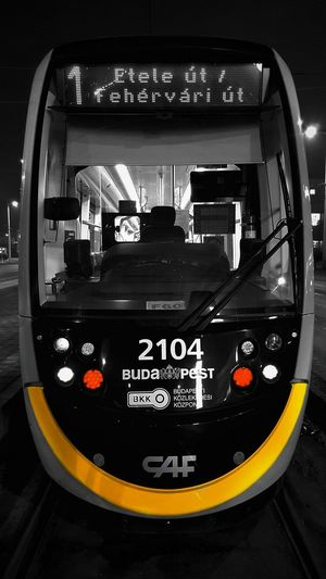 Close-up of bus