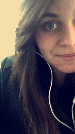 Écouter la musique et ne penser a rien Smile Cheveux Lisse Ecouteur Blue Eyes