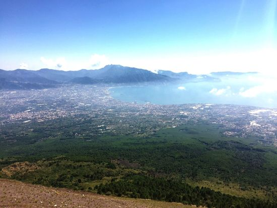 View from the top of Mount Vesuvius 😎🌋 Mountvesuvius Vesuvio Volcano Pompeii  Naples