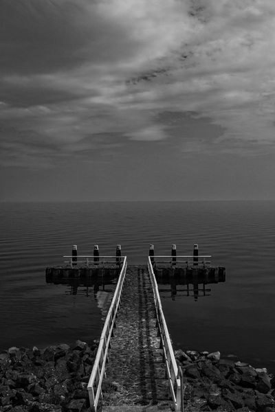 City Coast Deich  Holland Nature Netherlands No People Zealand Live For The Story EyeEm Selects Black And White Friday