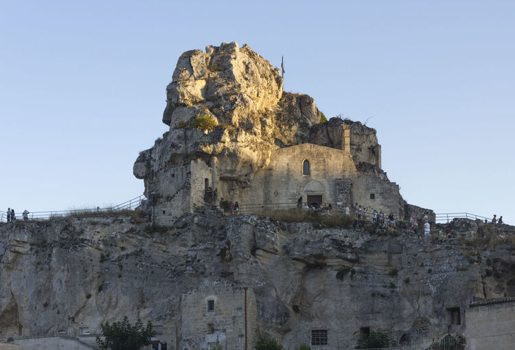 Matera Italy Unesco UNESCO World Heritage Site Sky Clear Sky Architecture Built Structure Low Angle View History Nature The Past Building Exterior Ancient Building Travel Day No People Rock Solid Rock Formation Travel Destinations Outdoors Cliff Ancient Civilization