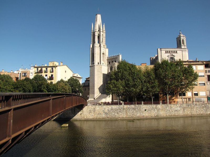 Architecture Building Exterior Built Structure Day Girona Cathedral Girona City Iron Bridge No People Outdoors