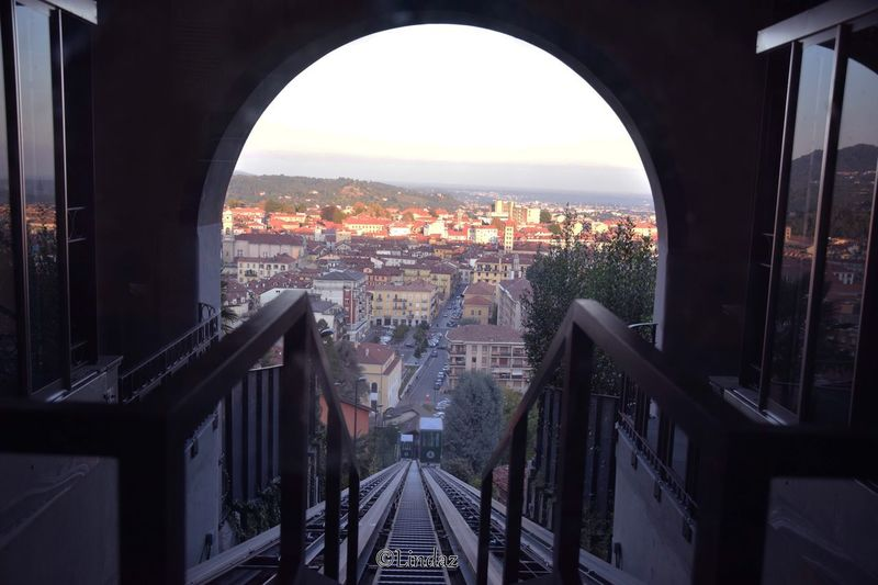 La vista dall'alto della mia città. Architecture And Art Ascensore Biella Piazzo Biella Funicolare Architecture City Building Exterior Built Structure Cityscape Arch Window