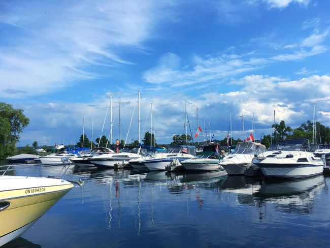 Nautical Vessel Transportation Mode Of Transport Moored Boat Sky Water Cloud - Sky Day Outdoors Reflection Sea Harbor Nature No People Mast Yacht