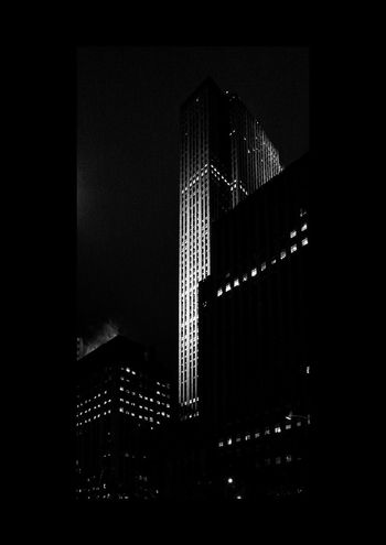 Architecture Light And Shadow Night Building Blackandwhite Streetphotography USA New York City Street Corner Winter Nopeople Skyscrapers In The Clouds Skyscraper Neon Lights Illuminated Celebration Close-up Tower Urban Skyline Street Scene Exterior Financial District  Cityscape