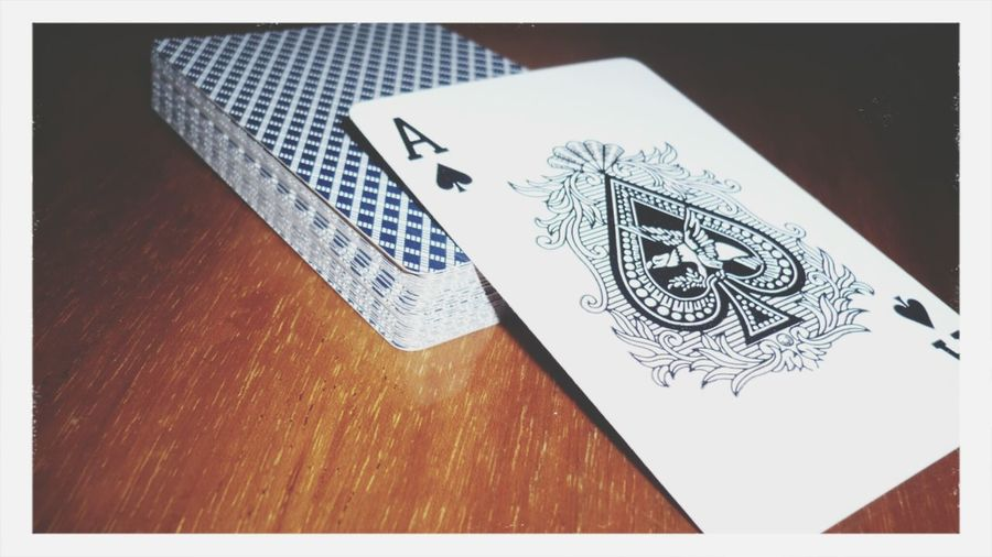 Cards Ace Black Table