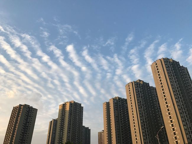 Cloud - Sky Clouds And Sky Cloud Clouds Cloudy Cloudscape Architecture Built Structure Low Angle View Cityscape Sky No People Tower Outdoors Place Of Heart Beauty In Nature Live For The Story Out Of The Box The Week Of Eyeem Enjoying Life Relaxing Art Is Everywhere Architecture City Life The Great Outdoors - 2017 EyeEm Awards 雲與樓的排序🇨🇳層層叠叠