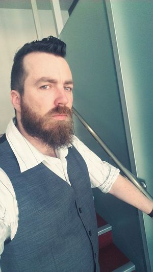 Escaping corporate hell for the day, pausing to say hello to you. :-) Waistcoat Suit Corporate Selfies That's Me!
