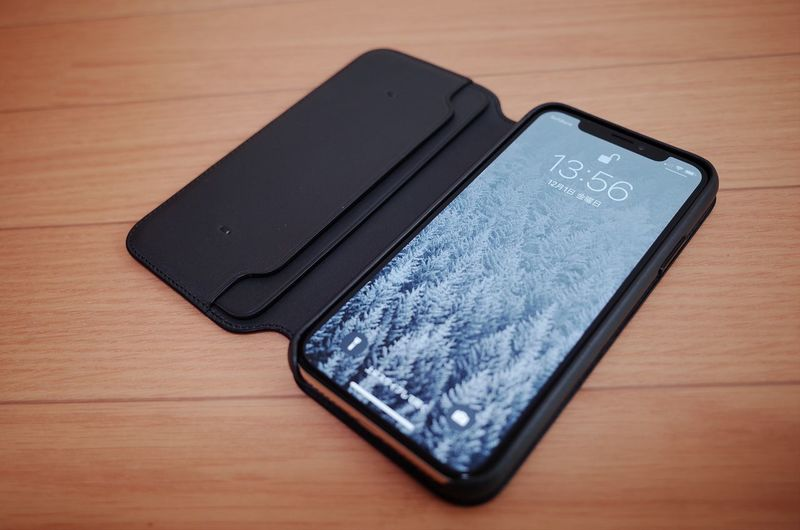 Apple Leather Folio Case for iPhone X RICOH GR 2 Ricohgr2 No People Indoors  Touch Screen Device Screen Mobile Phone Table Communication Portable Information Device Smart Phone Wireless Technology EyeEm Selects IPhoneX Apple