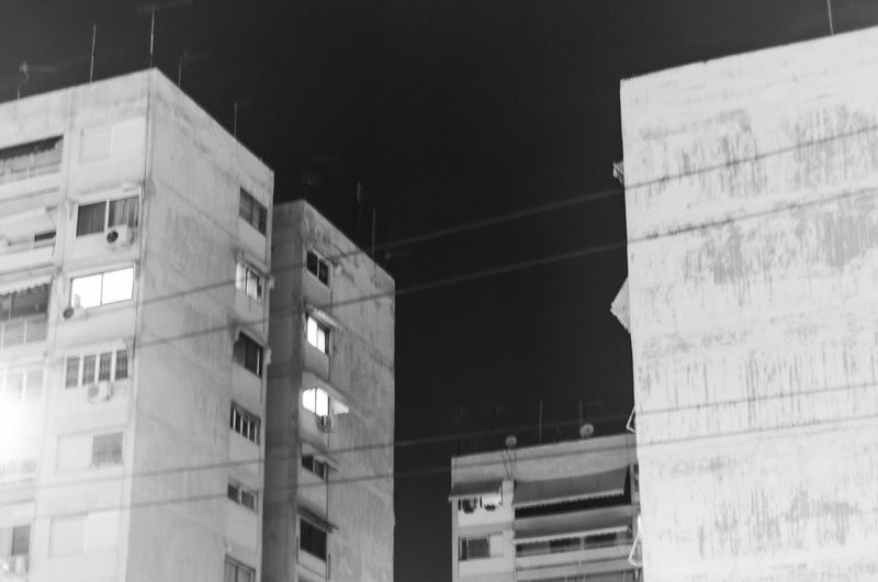 Block Like soviet block in greece Built Structure Architecture Building Exterior Low Angle View City Building No People Outdoors Night Office Wall - Building Feature Illuminated Modern Nature Window Office Building Exterior Focus On Foreground The Past Selective Focus