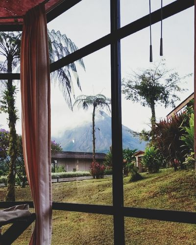Volcanoe Costa Rica Window Water Sky Day This View Morning Light