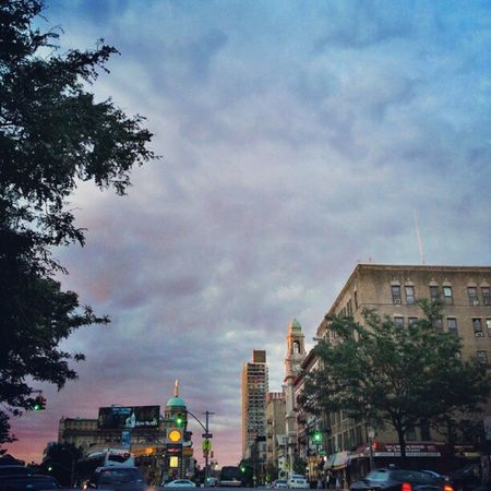 Landmarks in the heights at Sunset Instagramuptown Washingtonheights Uptown Inwood newyorkcity