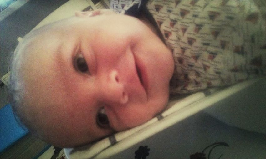 My sweetheart - ILoveYou.♡ Awww So Cute <3 Big Smile (: Little Blue Eyes My Baby Boy Only 3 Months Happiness Proud Nanny! Moments