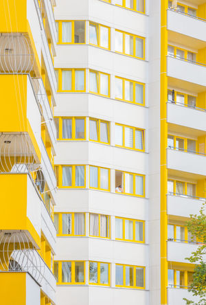 Architecture Architecture_collection Berlin Kreuzberg Pastel Power Reflection Urban Geometry Apartment Architecture Building Exterior Built Structure City Cityscape Day Full Frame Geometric Modern No People Outdoors Pastel Residential  Residential Building Urban Landscape Window Yellow The Graphic City