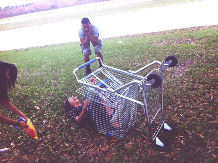 When I fell from a shopping cart
