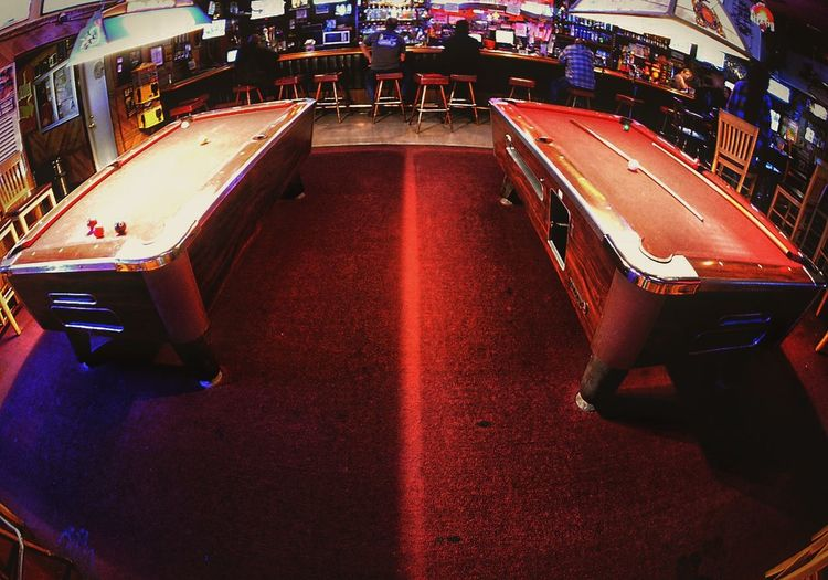 Pool Red Vs. Blue Pooltable Poolhall Bar Fisheyelens Fisheye Fisheye Lens FishEyeEm