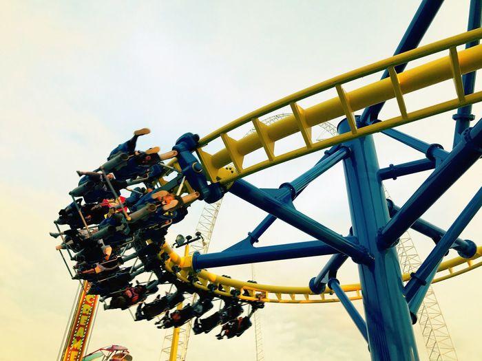 Roller coasters Sky Amusement Park Clear Sky Amusement Park Ride Outdoors Roller Coasters