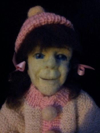 Rosa Handmade By Me Artdolls Dolls In Wool Portrait