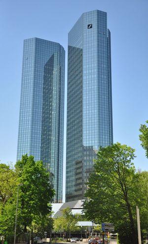 Urban Geometry Skyscraper Frankfurt Am Main Deutsche Bank Soll Und Haben