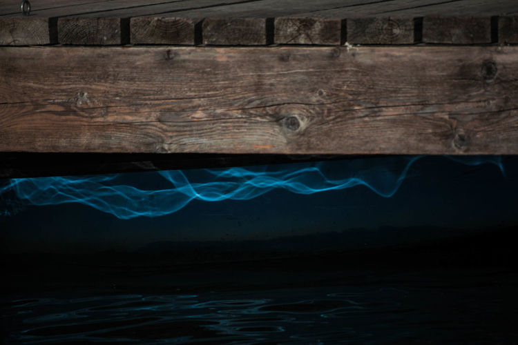 Bridge Over Troubled Water Water Nature No People Wood - Material Sea Night Blue Illuminated Emotion Architecture Underwater Animal Wildlife Motion Dark Textured  Light Light And Shadow Waterfront Wood Blue Wave Abstract Grunge Mood Moody Beauty In Nature Capture Tomorrow
