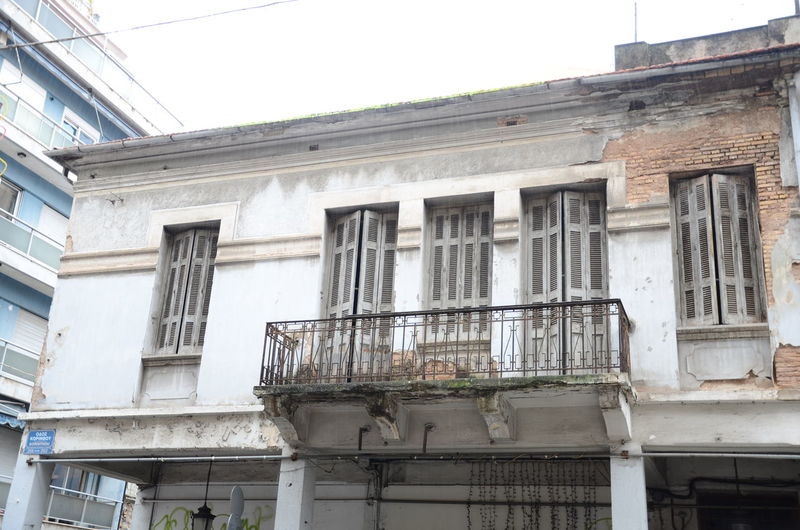 Air Conditioner Apartment Architecture Balcony Building Building Exterior Built Structure City Day Deterioration Exterior Low Angle View No People Old Outdoors Residential Building Residential Structure Sky