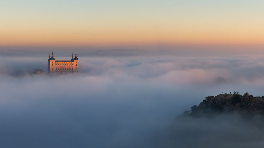 Toledo Sky Fog Built Structure No People Scenics - Nature Tranquility Orange Color Sunset Architecture Foggy Morning SPAIN Europe Cathedral Awesome Clods And Sky Relaxing