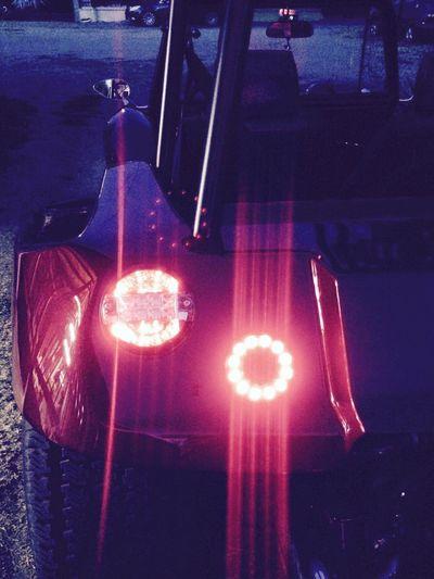 VW Vw Buggy Cabrio Red Stoplight Dark Night