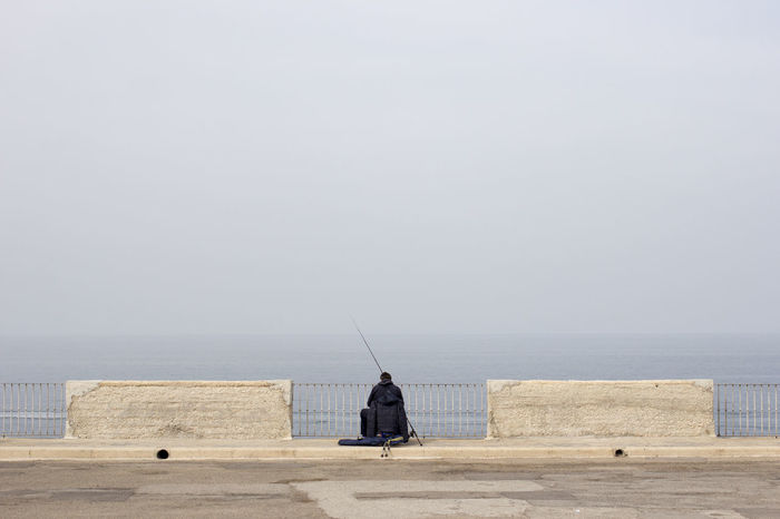 Apulien Europe Fisherman Fishing Holiday Destination Italia Italy Mediterranean  Minimal Minimalism Minimalist Ocean Polignano A Mare Puglia Seaside Seaside Town Symmetrical Symmetry Weekend Getaway The Street Photographer - 2016 EyeEm Awards