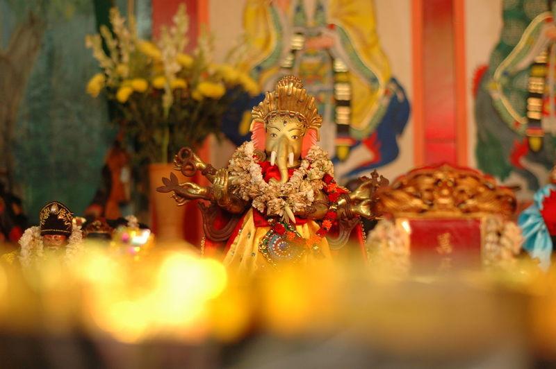 Ganesha Sculpture ASIA China Lunar Capgomeh Sculpture Worship Places Temple Light God Ganesh Ganesha Religion Indoors  Statue No People Close-up Spirituality Day
