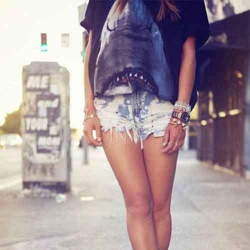 Sharkshirt Shorts Jewelry Tan summer