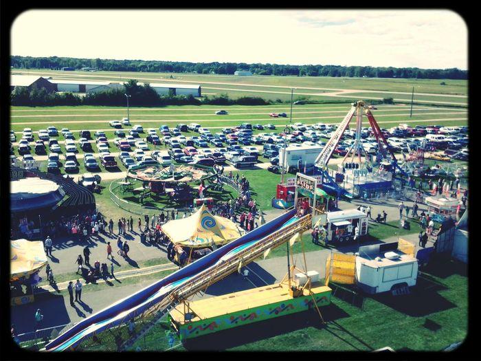 Fairgroundrides Birdseye View Ontopoftheworld Great Views