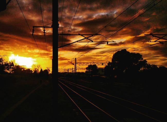 Llavallol Estaciondellavallol Buenosaires Argentina Sol Sun Amanecer Tren Train