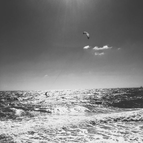 Joy. Perth Australia Perth Ocean Photography Ocean Australia Blackandwhite Black And White Photography Wanderlust Vagabond Sky Vertebrate Bird Animal Wildlife Animal Themes Flying Animal Sea Water Nature Beauty In Nature Scenics - Nature Mid-air Outdoors Horizon Over Water Cloud - Sky