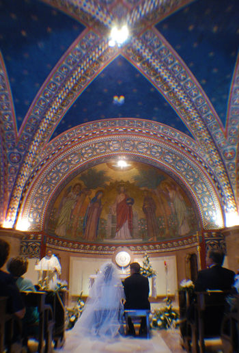 Celebration Church Indoors  Marriage  Place Of Worship Real People Religion Religious Celebration Religious Ceremony Religious Place Spirituality Unrecognizable People Unrecognizable Person