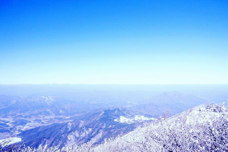 Mt. Deogyu❄지평선이 연기처럼 사라지다. Landscape Sky And Mountains Nature Is Beautiful Sfumato Traveling Mt.deogyu South Korea