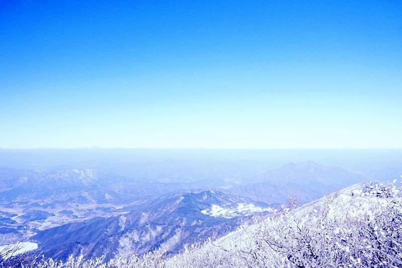 Mt. Deogyu❄지평선이 연기처럼 사라지다. Landscape Sky And Mountains Nature Is Beautiful Sfumato Traveling Mt.deogyu South Korea